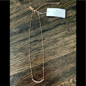 kate spade FULL CIRCLE NECKLACE ROSE GOLD NEW